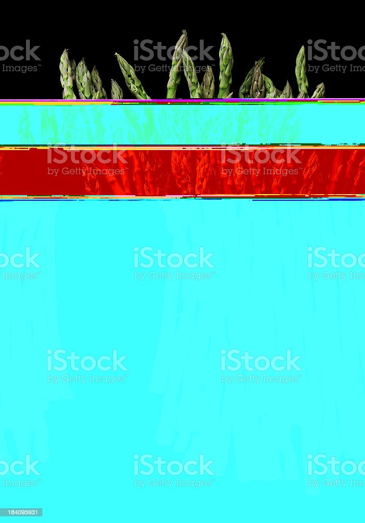 asparagus on black royalty-free stock photo