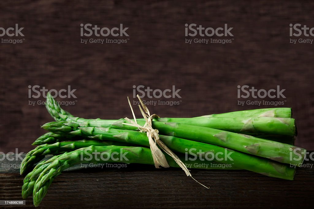 Asparagus on brown royalty-free stock photo