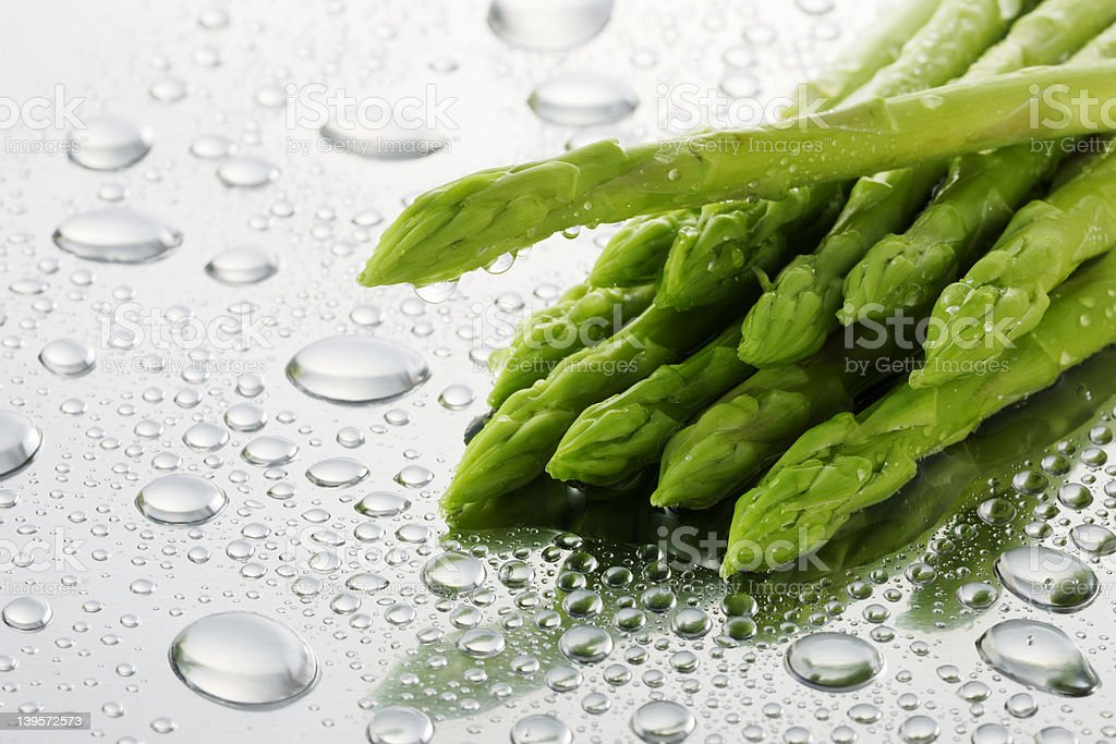 asparagus on kitchen sink royalty-free stock photo