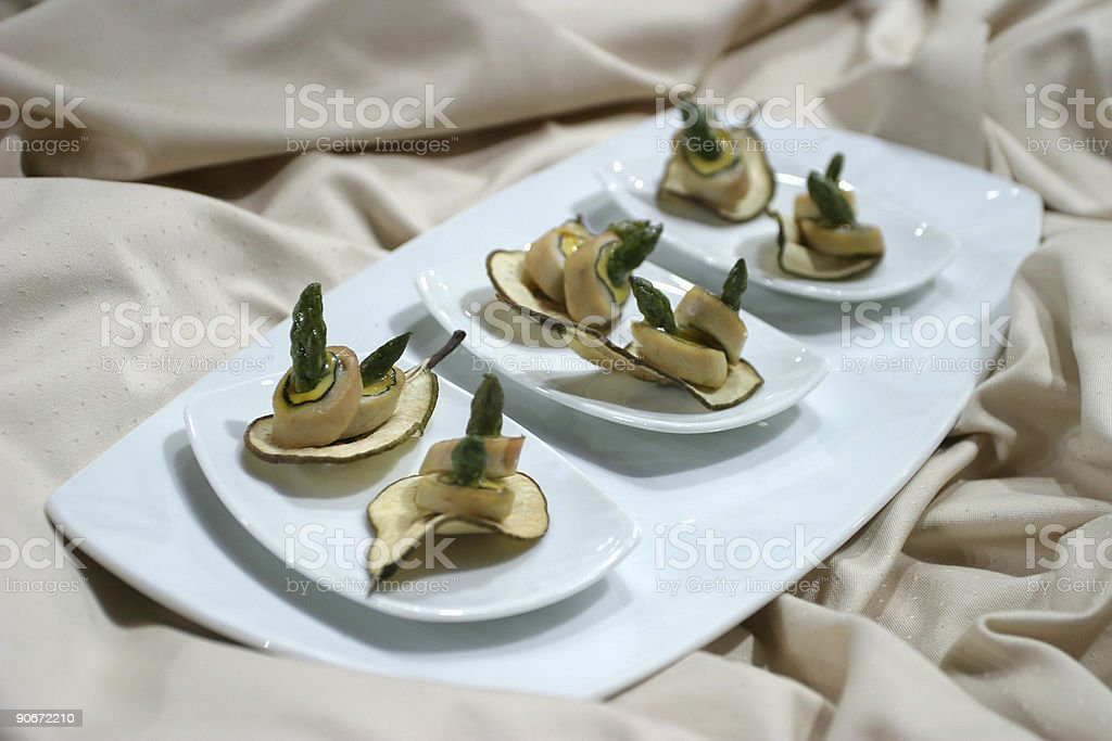 Asparagus on pears royalty-free stock photo
