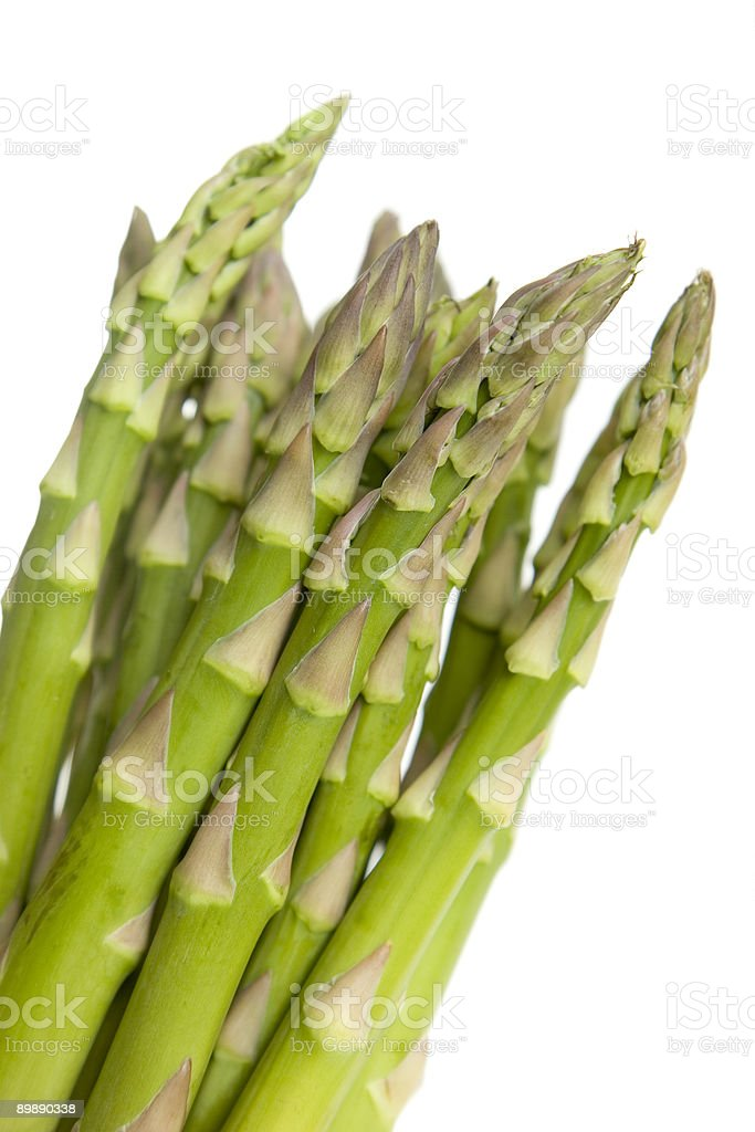 Asparagus (isolated) royalty-free stock photo