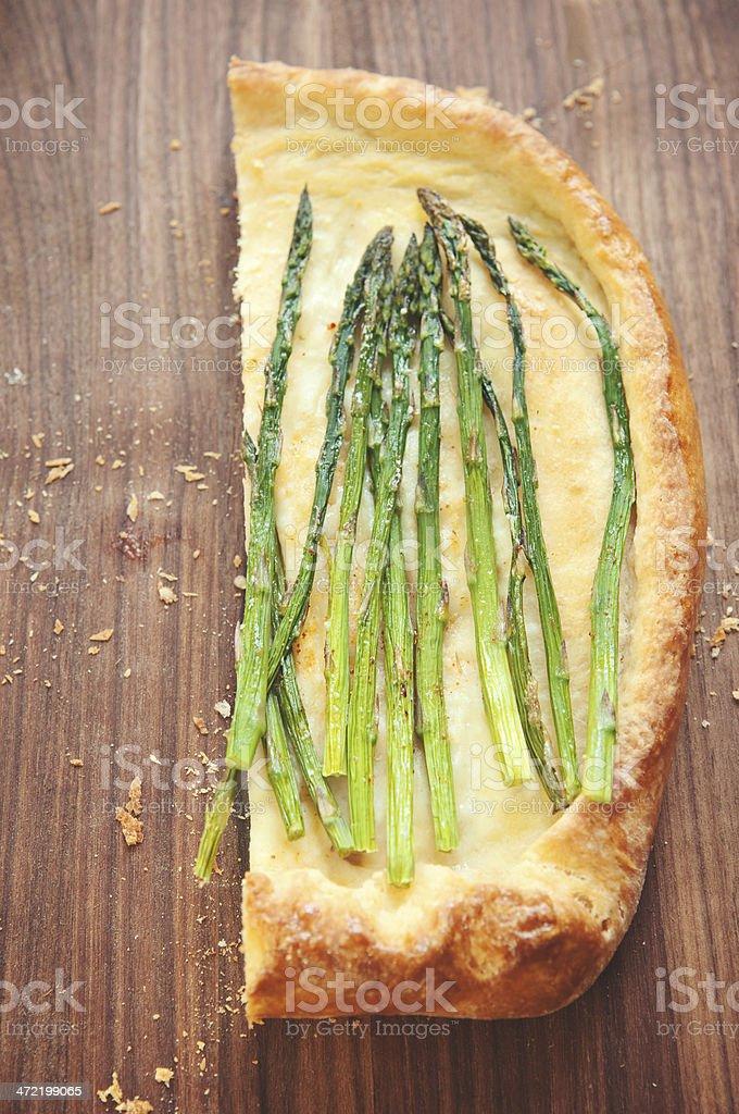 Asparagus Pizza royalty-free stock photo