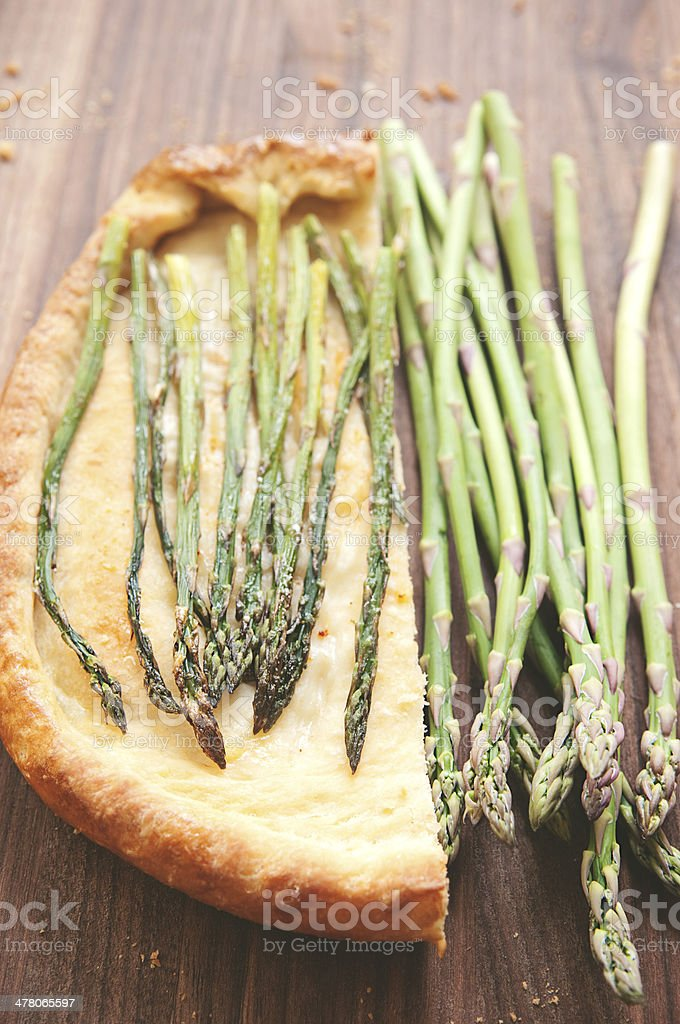 Asparagus Pizza royalty-free stock photo