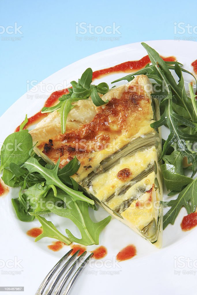 Asparagus Quiche royalty-free stock photo