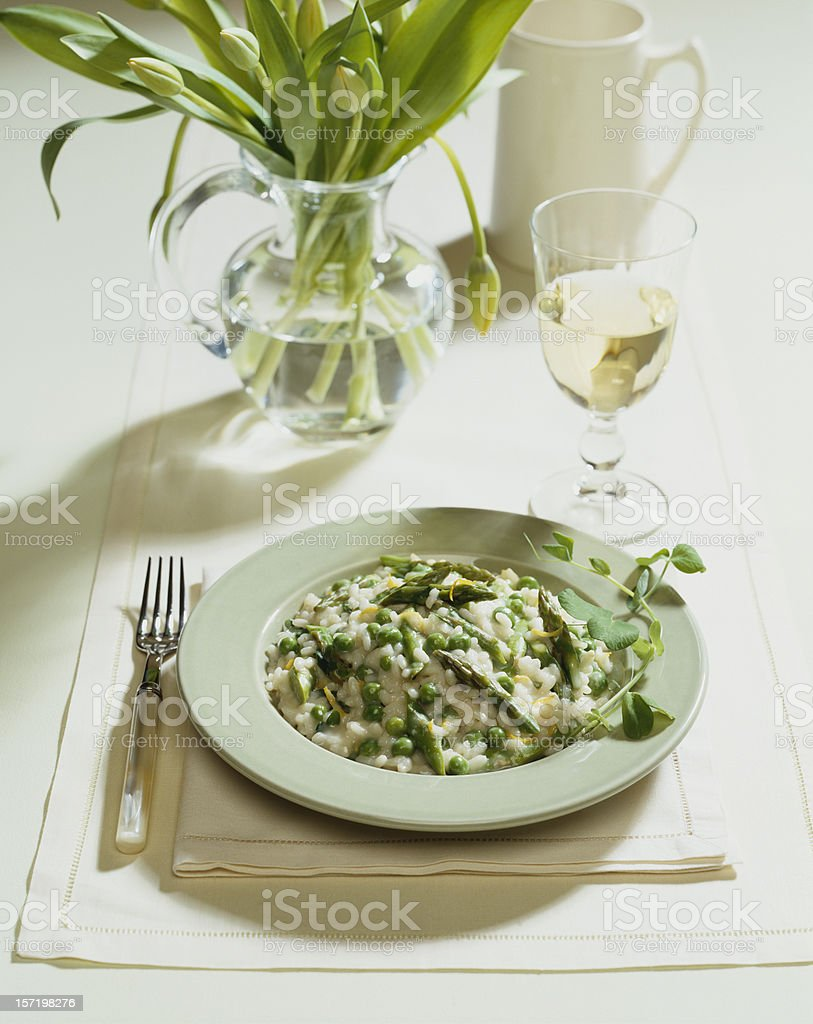 Asparagus Risotto royalty-free stock photo