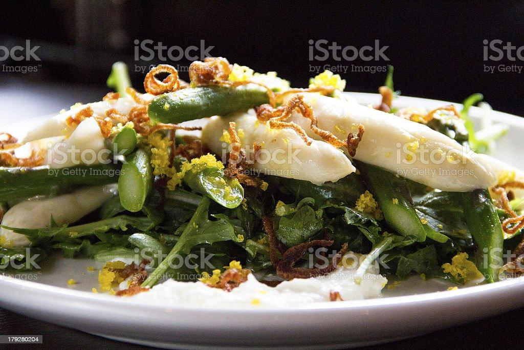 asparagus salad royalty-free stock photo