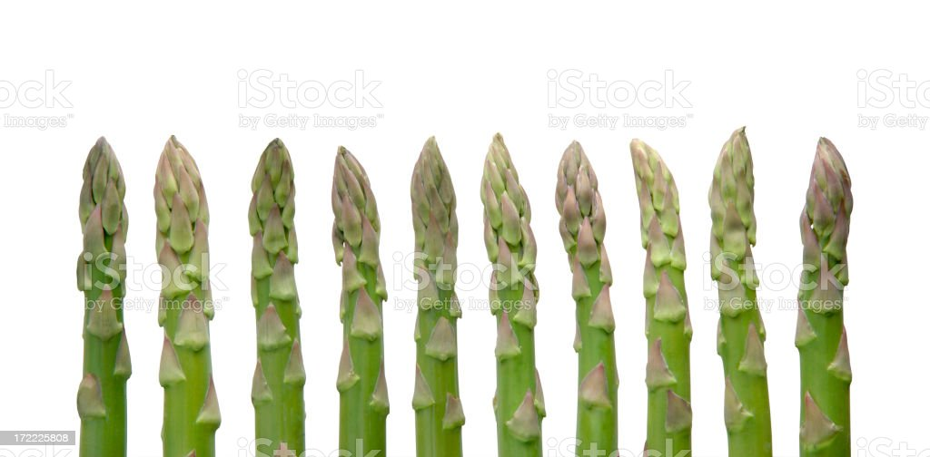 Asparagus with Path royalty-free stock photo
