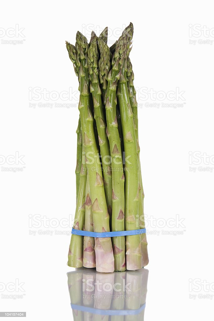 Asparagus with Reflection royalty-free stock photo