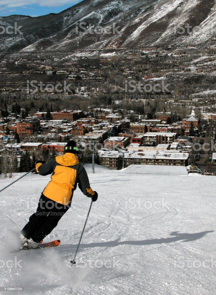 Aspen Skiing royalty-free stock photo