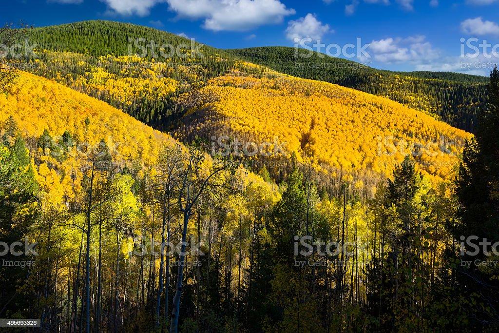 Aspen Vista Overlook stock photo