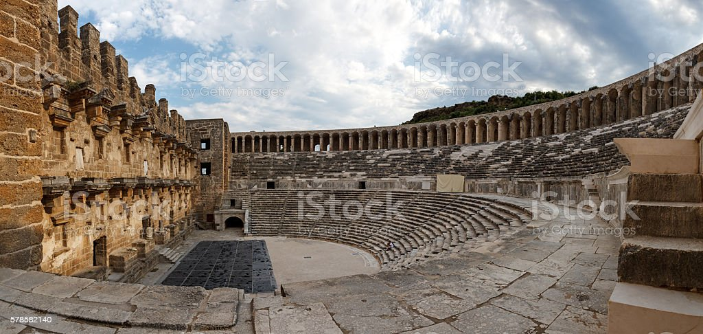Aspendos amphitheater Antalya Turkey stock photo