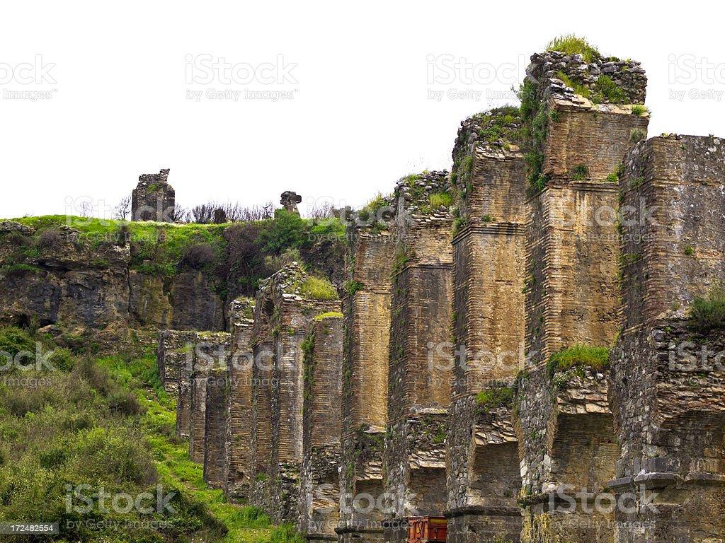 Aspendos Aqueduct royalty-free stock photo