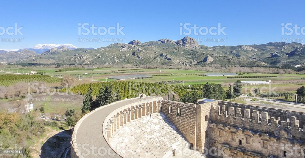 Aspendos (Aspendus) ruins in Turkey stock photo