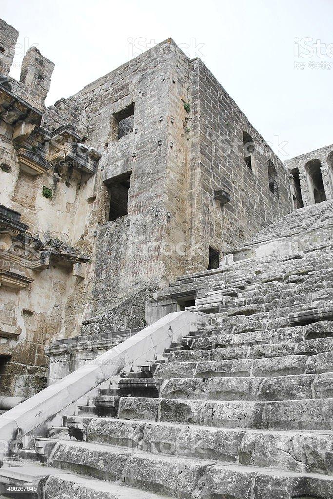 Aspendos Theatre stock photo