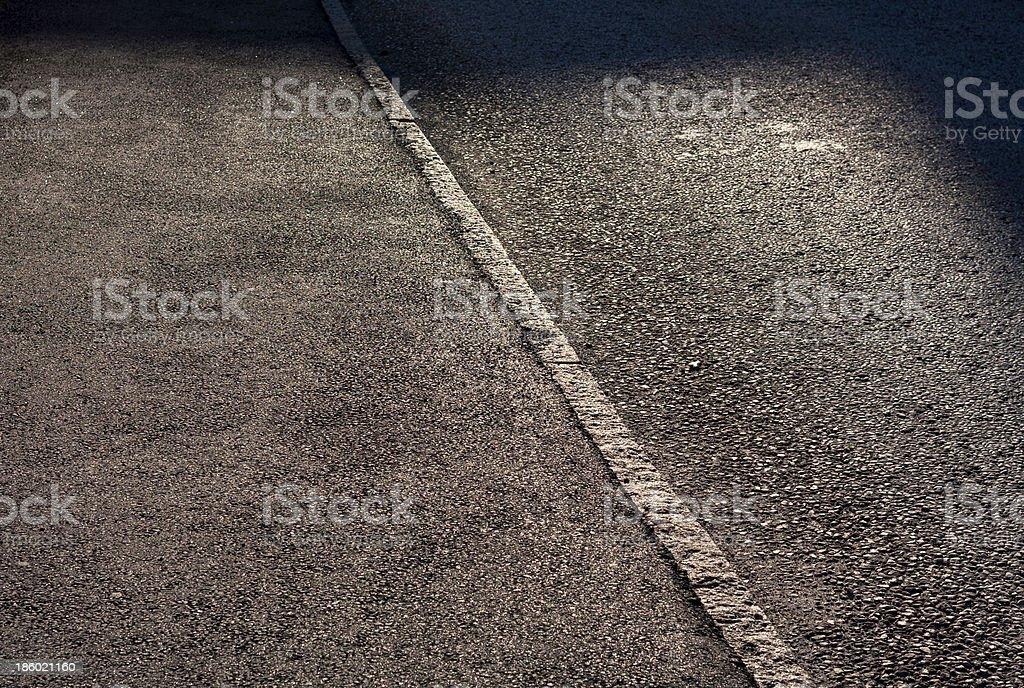 Asphalt and shadows stock photo