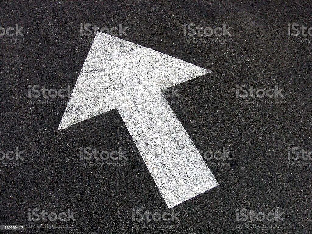 Asphalt Arrow stock photo