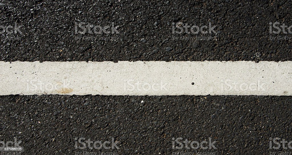 Asphalt dark texture with white lines stock photo