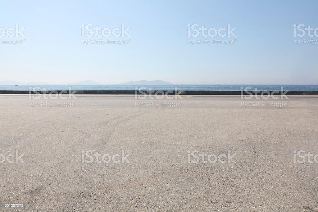 asphalt ground space stock photo