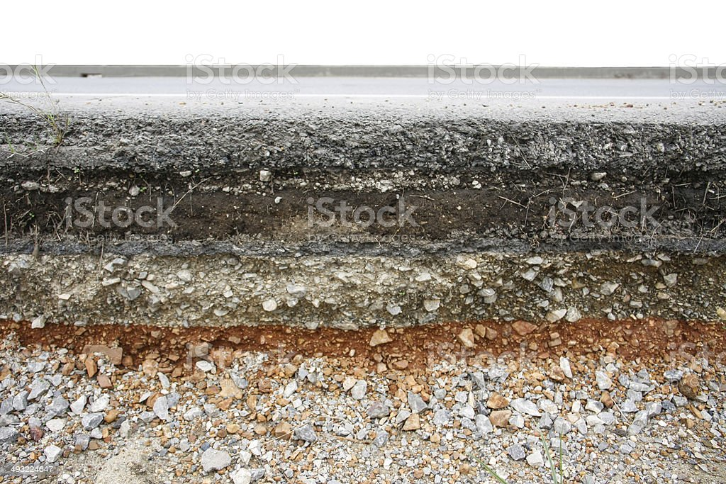 asphalt layer road stock photo