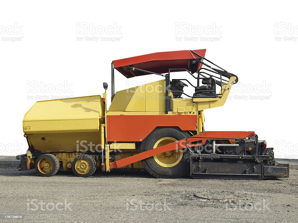 Asphalt machine royalty-free stock photo