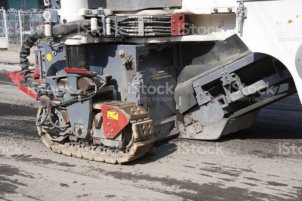 Asphalt Milling Machine stock photo