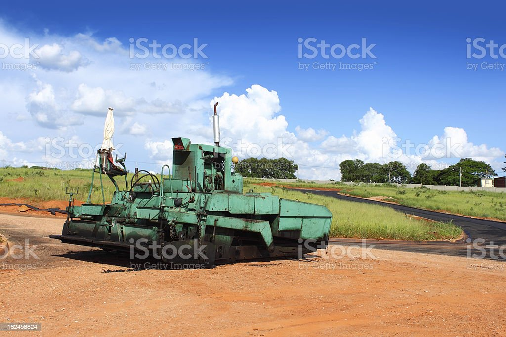 Asphalt paving machine royalty-free stock photo