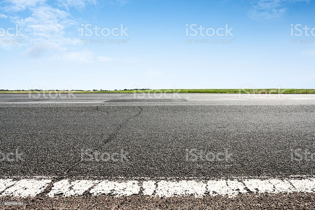 Asphalt road closeup stock photo