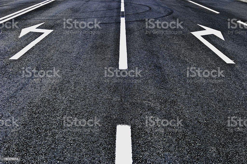 asphalt road direction royalty-free stock photo