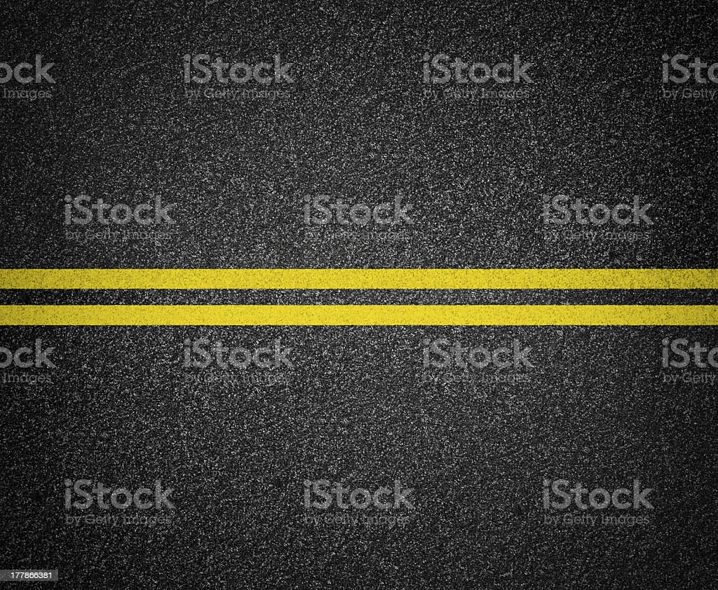 asphalt road marking top view stock photo
