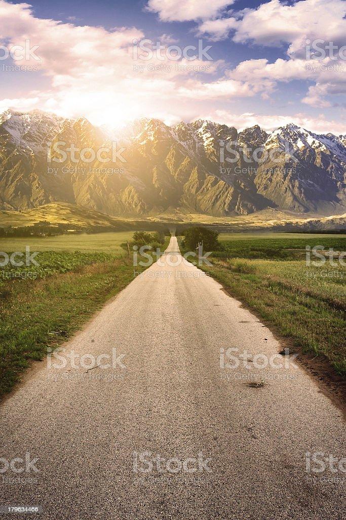 Asphalt road royalty-free stock photo