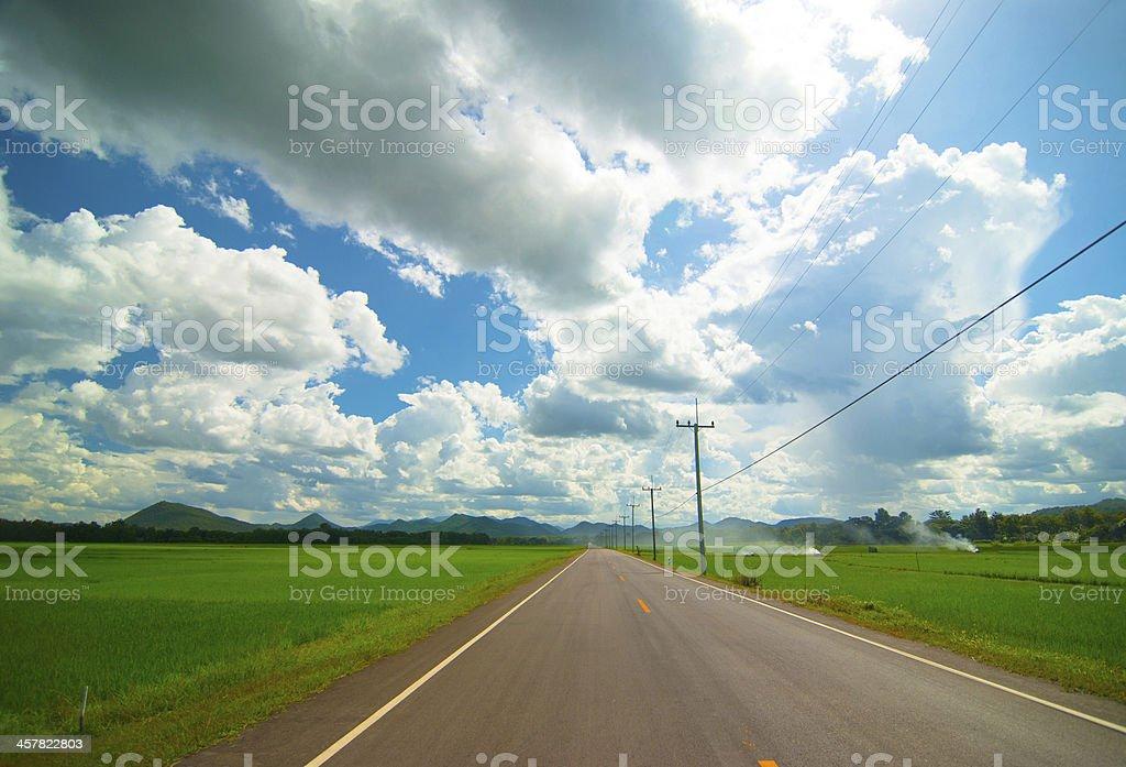 Droga asfaltowa zbiór zdjęć royalty-free