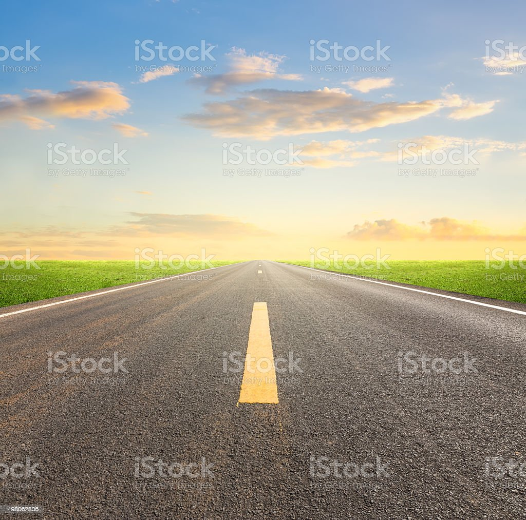 Asphalt road sky stock photo