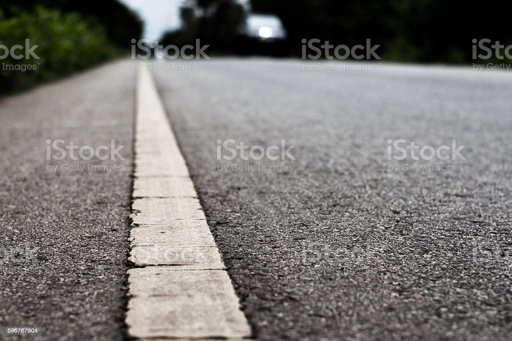 Asphalt road transportation textured background. stock photo