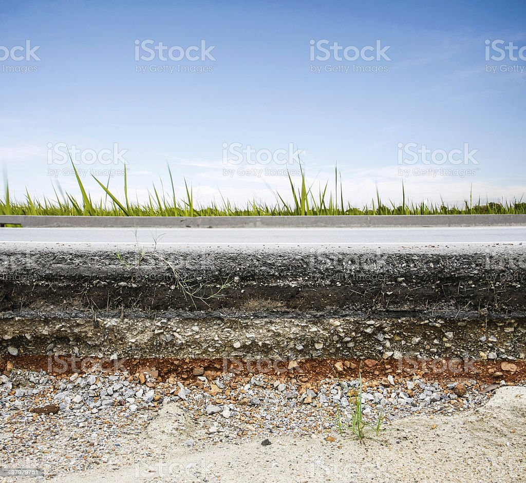 asphalt road with blue sky stock photo