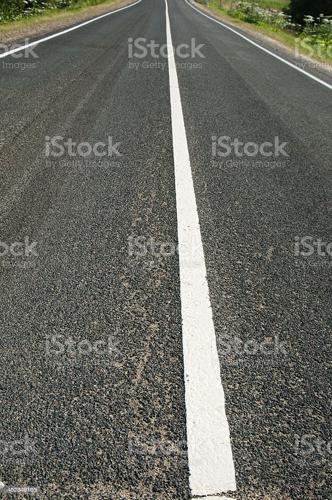 Asphalt road with marking stock photo