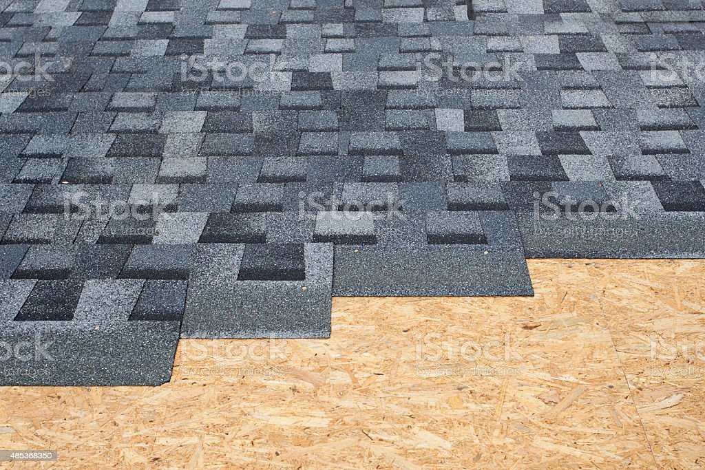 Asphalt Roofing Shingles Background stock photo
