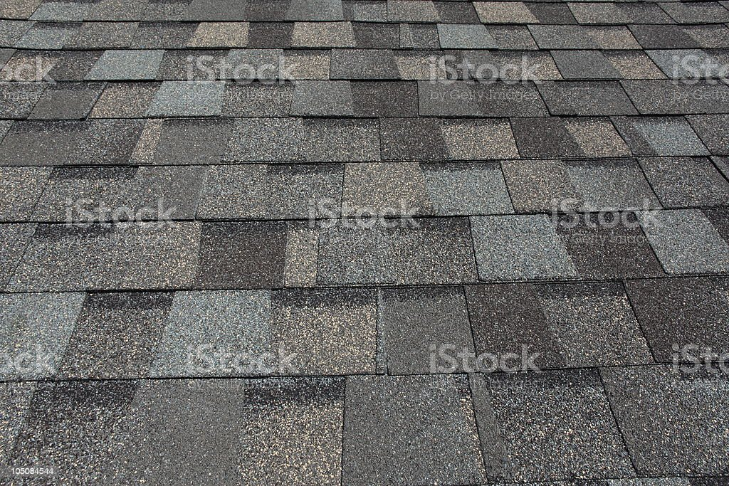 Asphalt Roofing Shingles stock photo
