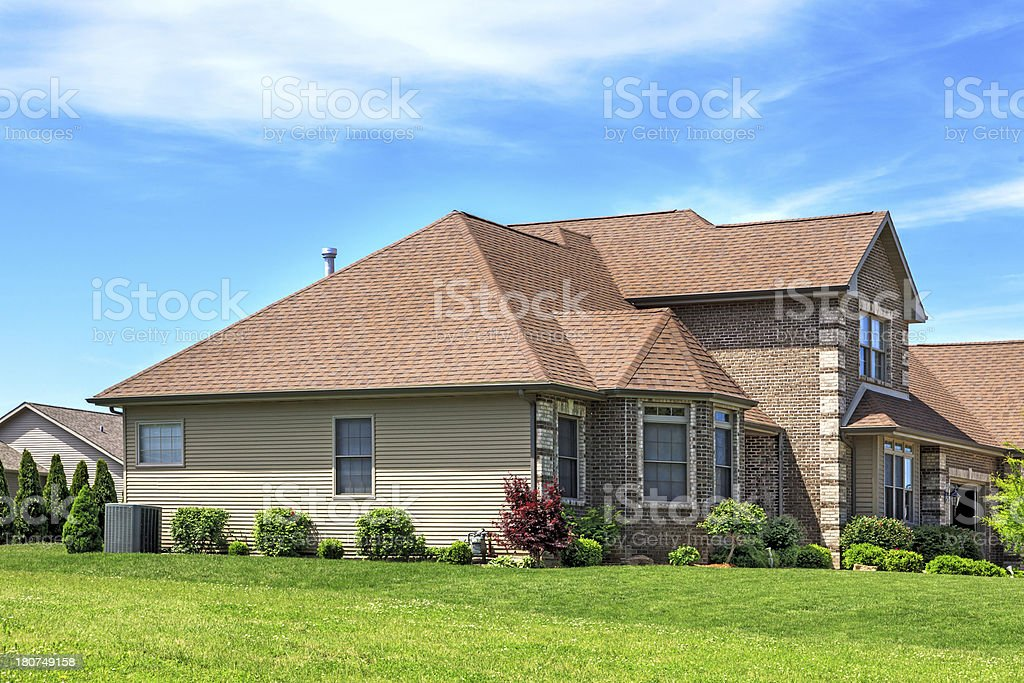 Asphalt Roofing, Siding, Landscaping royalty-free stock photo