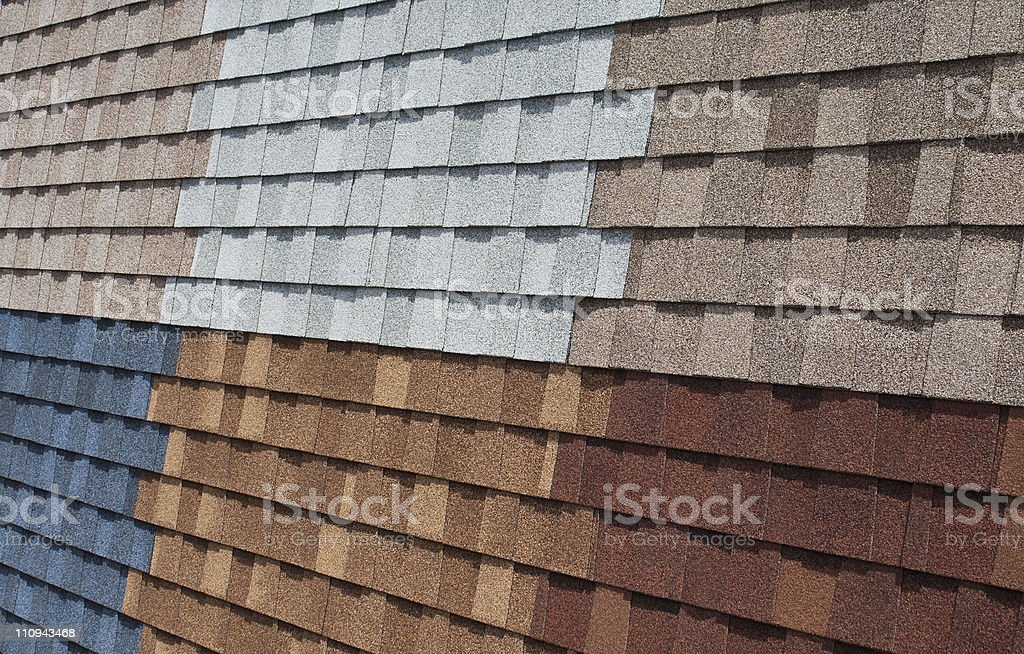 Asphalt Shingle Display stock photo