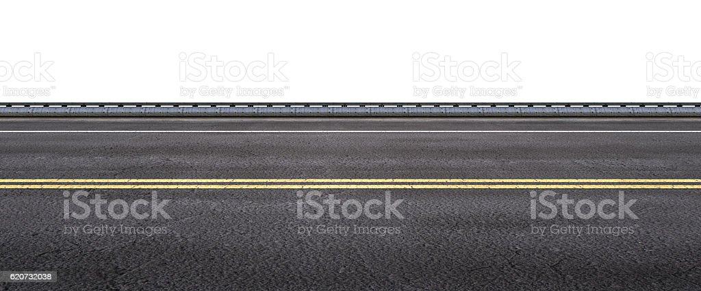 asphalt street on white background stock photo