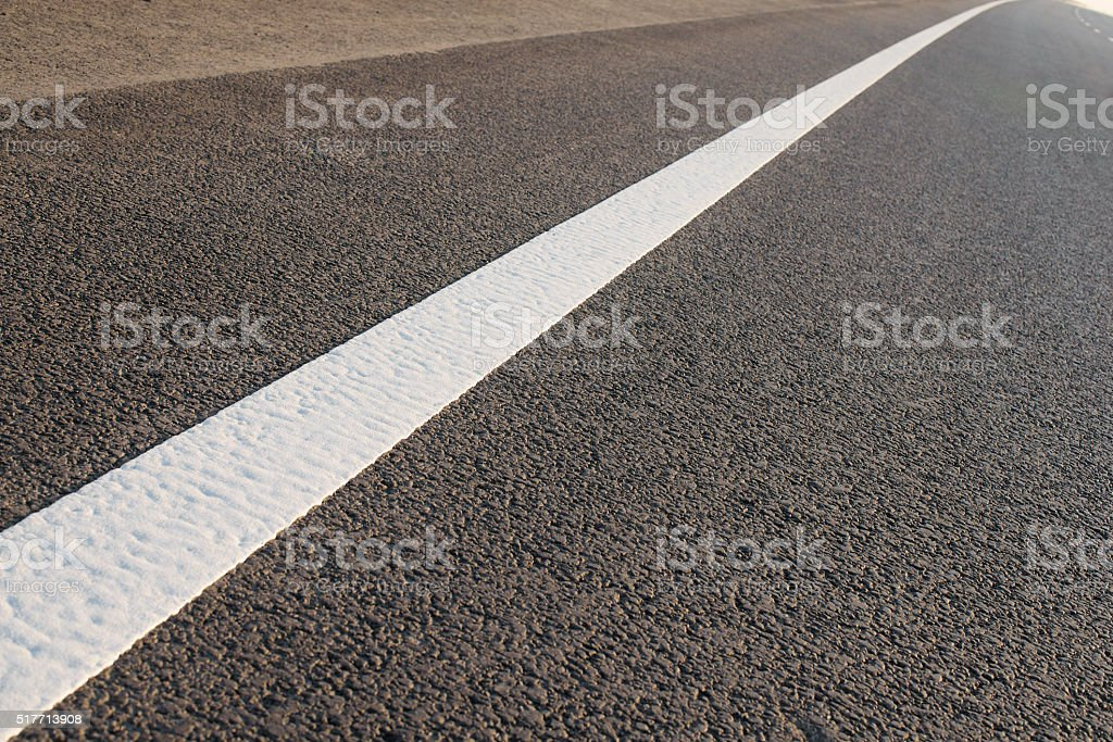 Asphalt texture with separation lines, top view stock photo