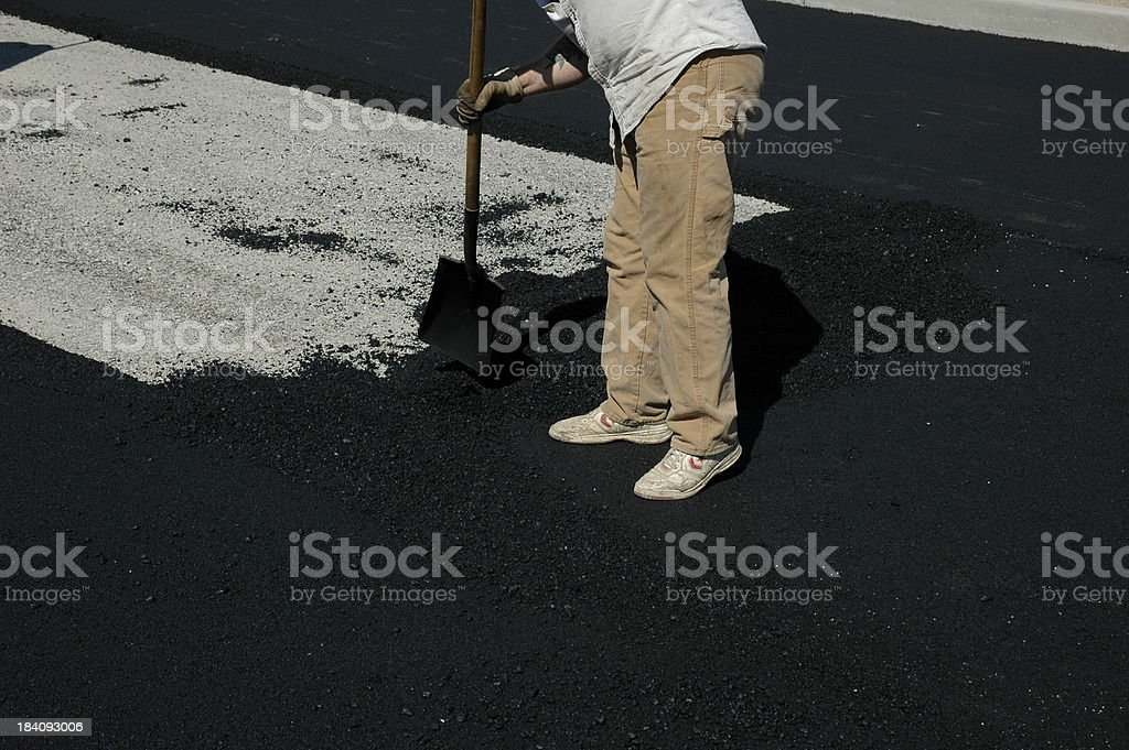 Asphalt Worker stock photo