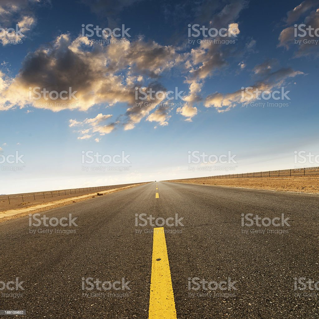 asphalted highway stock photo