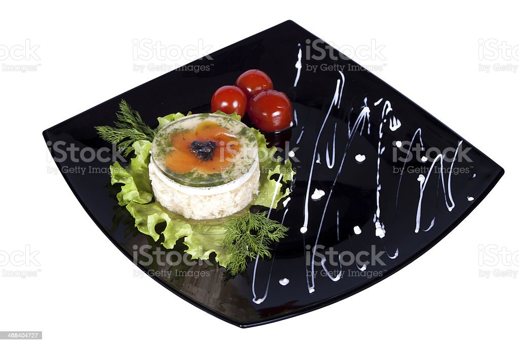 Aspic from chicken meat royalty-free stock photo