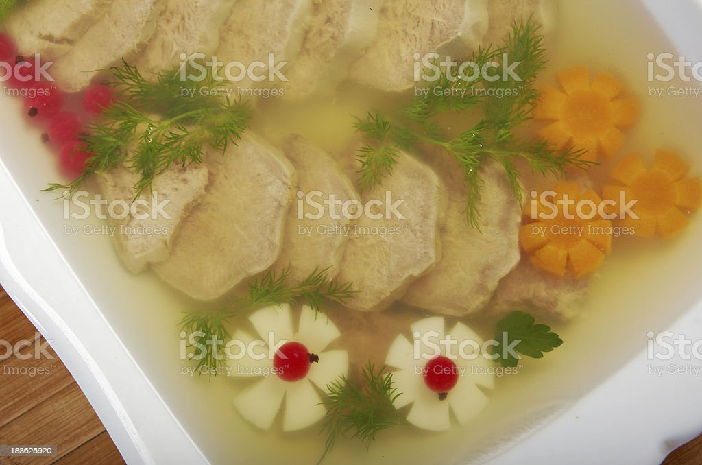 Aspic from meat royalty-free stock photo