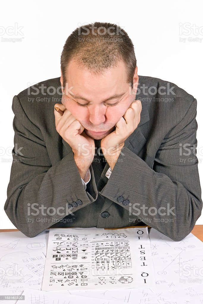 aspirant with IQ test stock photo