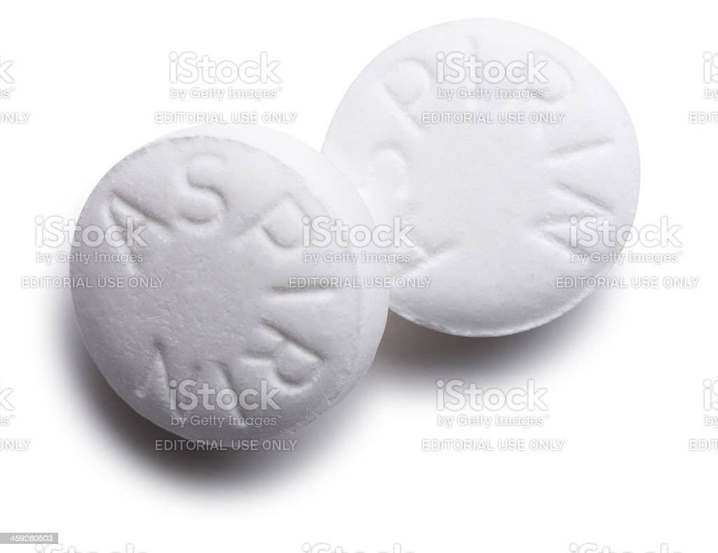 Aspirin Pills Isolated on White royalty-free stock photo