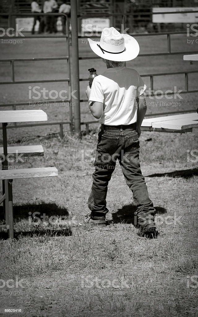 aspiring cowboy stock photo