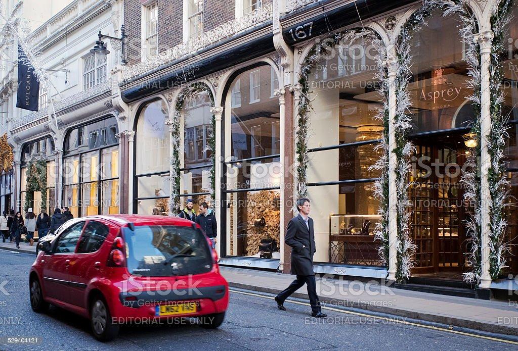 Aspreys, London, at Christmas stock photo