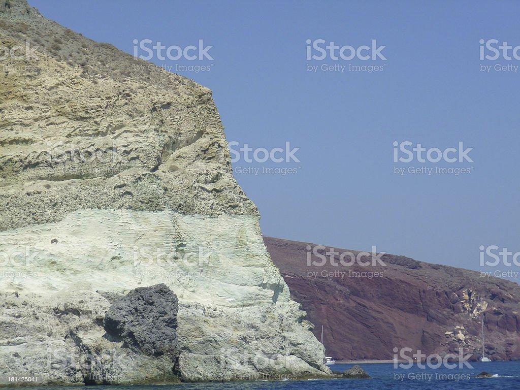 Aspri beach in Greece stock photo